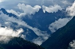 Mountain landscape - Dolomites, Italy. Mountain landscape with thick clouds - Dolomites, Italy Stock Photo