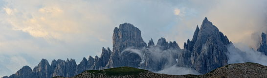Mountain landscape - Dolomites, Italy. Panoramic view of Dolomites mountains, Italy Stock Images