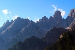 Mountain landscape of the Dolomites, Italy royalty free stock image