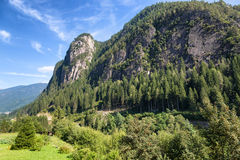 Mountain landscape on Dolomites, Trentino, Italy Royalty Free Stock Image
