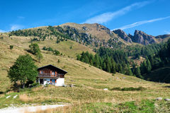 Mountain landscape on Dolomites, Trentino, Italy Royalty Free Stock Photo