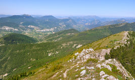 Mountain landscape in the Dr�me in France Royalty Free Stock Photos