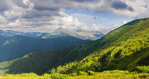 Mountain landscape with dramatic sky Stock Image