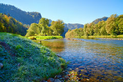 Mountain landscape with Dunajec river Royalty Free Stock Photography