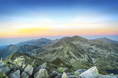 Mountain Landscape at Dusk Royalty Free Stock Photo