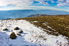 Mountain landscape in early spring, mount Stolovi Royalty Free Stock Images