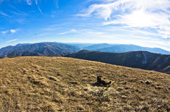 Mountain landscape in early spring, mount Stolovi Royalty Free Stock Image