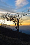 Mountain landscape in early spring at sunset, mount Stolovi Royalty Free Stock Photo