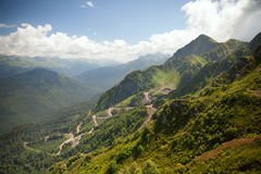 Mountain landscape with earth road Stock Photography