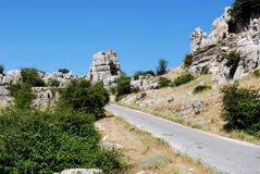 Mountain landscape, El Torcal. Royalty Free Stock Images
