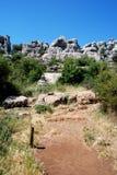 Mountain landscape, El Torcal. Stock Images