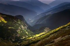 Mountain landscape in endless expanses of Carpathians Stock Photo