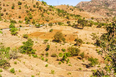 Mountain landscape in Ethiopia. Royalty Free Stock Photography