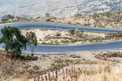 Mountain landscape in Ethiopia Royalty Free Stock Photo