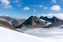 Mountain landscape in Europe Alps mountains stock photo