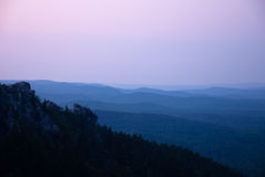 Mountain landscape in evening. background Stock Photography