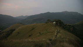 Mountain landscape.Evening with beautiful sky stock footage