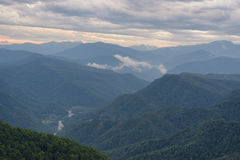 Mountain landscape in evening Stock Photos