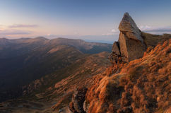 Mountain landscape in the evening Stock Photos
