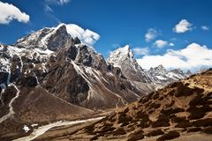 Mountain landscape in Everest region, Nepal Royalty Free Stock Photo