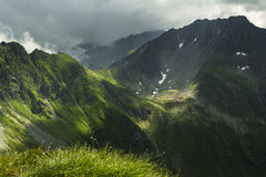Mountain landscape in Fagaras Mountain - Carpathians Royalty Free Stock Images