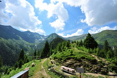 Mountain landscape (Fagaras-Romanian Carpathians) Stock Photo