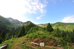 Mountain landscape (Fagaras-Romanian Carpathians) Royalty Free Stock Photo