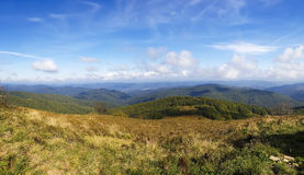 Mountain landscape - fall / autumn in Bieszczady - Poland Stock Photos