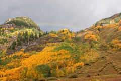Mountain Landscape in Fall Stock Photography