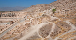 Mountain landscape with the famous abandoned city Persepolis Stock Photography