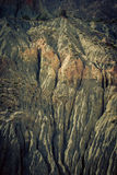 Mountain landscape in fann mountains, Tajikistan. weathered rock Royalty Free Stock Image