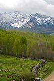 Mountain landscape and fence Royalty Free Stock Photo