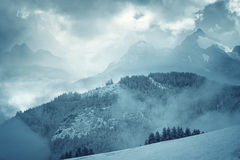 Mountain Landscape. Foggy Landscape in the mountains Royalty Free Stock Photography