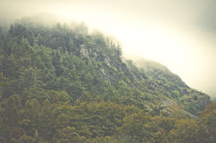 Mountain landscape in fogy day, England, Europe.  Stock Photography
