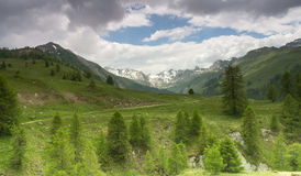 Mountain landscape in France Stock Image
