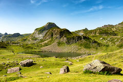Mountain landscape in the French Pyrenees Stock Image