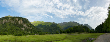 Mountain landscape in the French Pyrenees Royalty Free Stock Images