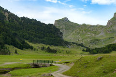 Mountain landscape in the French Pyrenees Stock Images