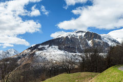 Mountain landscape in the French Pyrenees in spring Royalty Free Stock Photos