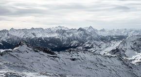 Mountain landscape of frozen ice peaks royalty free stock photos