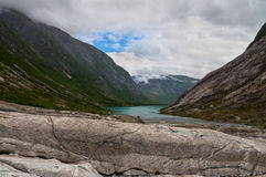 Mountain landscape with glacial river Stock Image