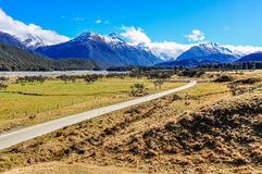 Mountain landscape in Glenorchy, New Zealand Royalty Free Stock Photography
