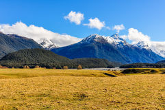 Mountain landscape in Glenorchy, New Zealand Stock Photos