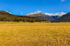 Mountain landscape in Glenorchy, New Zealand Stock Image