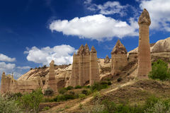Mountain landscape, Goreme, Cappadocia, Turkey Royalty Free Stock Images