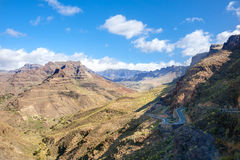 Mountain landscape in Gran Canaria Royalty Free Stock Images