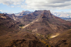 Mountain landscape on Gran Canaria island Royalty Free Stock Image