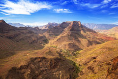 Mountain landscape of Gran Canaria island Royalty Free Stock Photos