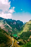 Mountain landscape, Ha giang, Vietnam stock photography