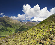 Mountain landscape. High mountain in morning time. Beautiful natural landscape Royalty Free Stock Photo